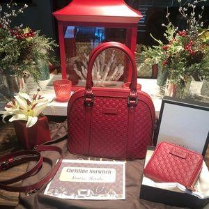 Gucci  Guccissima dome  purse and wallet
